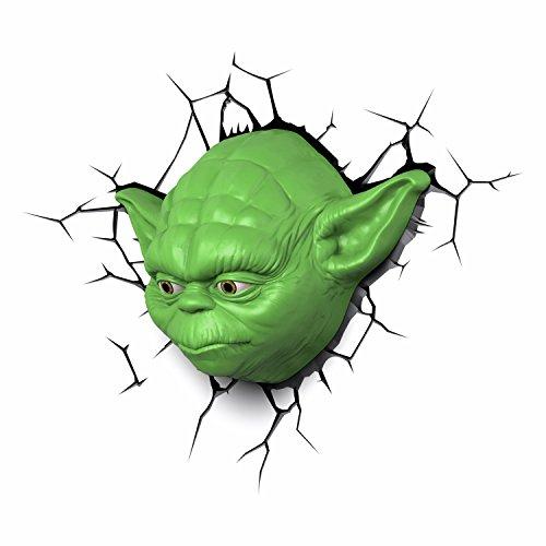Amazon: Lampara 3D Yoda que tener debes