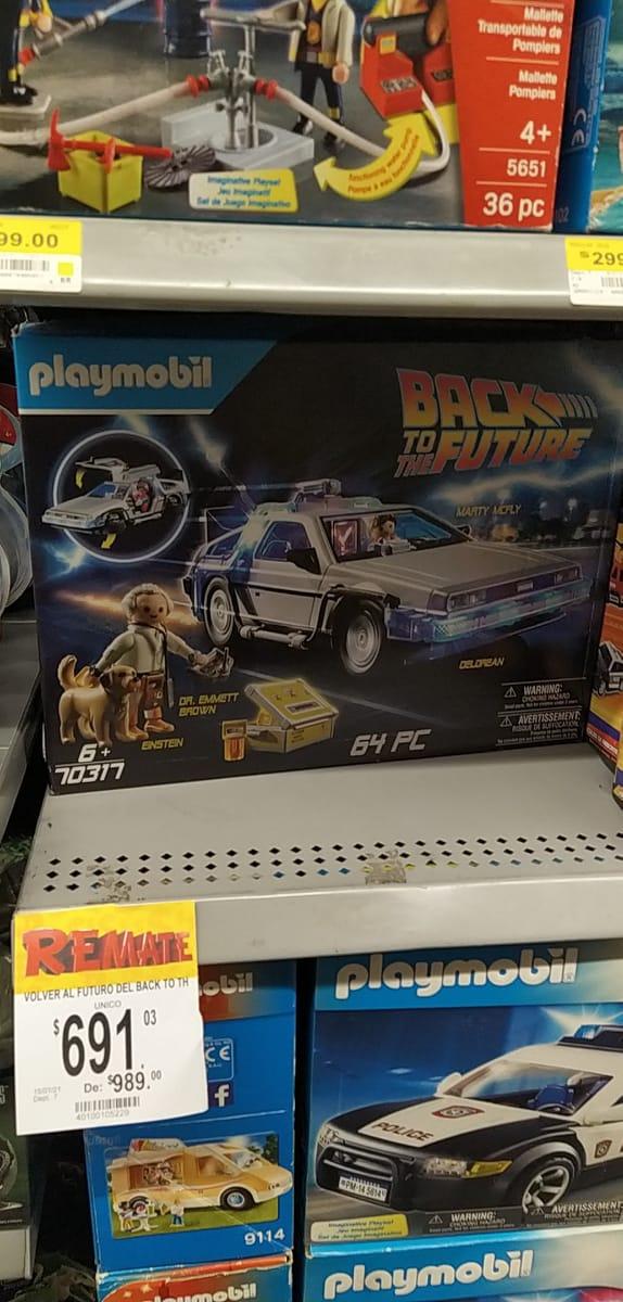 Bodega Aurrera: Playmobil Delorean de Volver Al Futuro
