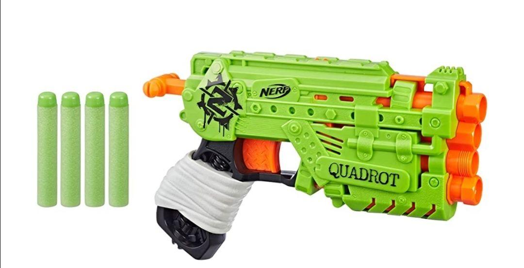 Amazon: Nerf Lanzador Quadrot Zombie Strike Lanzador