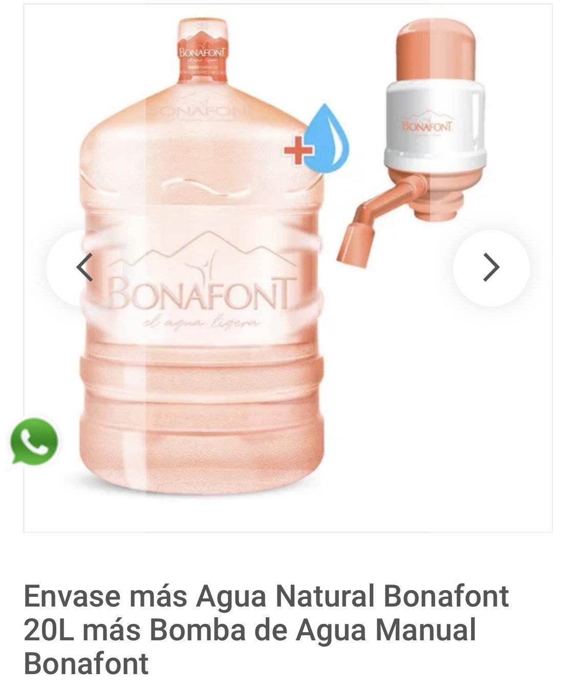 Bonafont: Envase más Agua Natural Bonafont 20L más Bomba de Agua Manual Bonafont