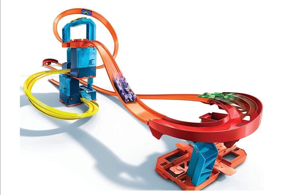 Amazon: Hot Wheels Track Builder Unlimited Ultra Stackable Booster Kit motorizado 5 más configuraciones Stunt Parts Compatible
