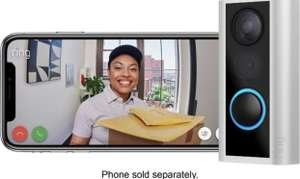 Best Buy: Ring - Door View Cam - Satin Nickel Compatible con Alexa