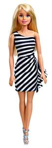 Amazon: Barbie Muñeca Glitz con Vestido, Color Negro/Blanco