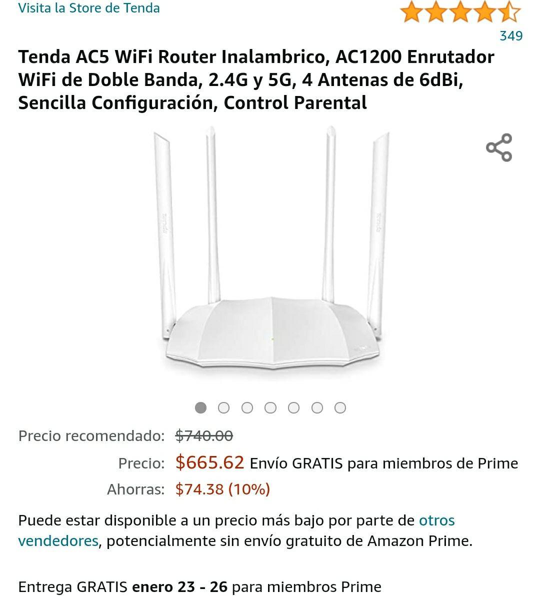 Amazon: Módem/Repetidor Tenda Ac5 dual banda 2.4ghz & 5ghz