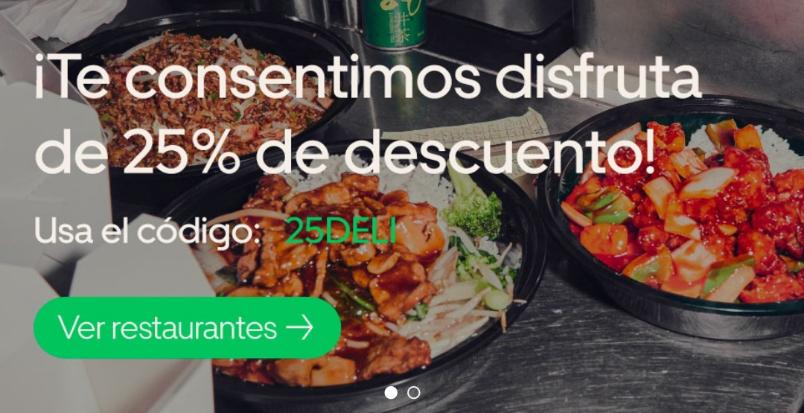 Uber Eats:25% De Descuento compra mínima de $180