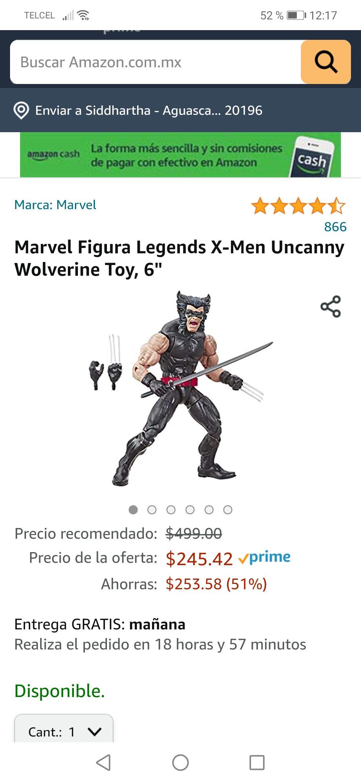"Amazon: Marvel Figura Legends X-Men Uncanny Wolverine Toy, 6"""
