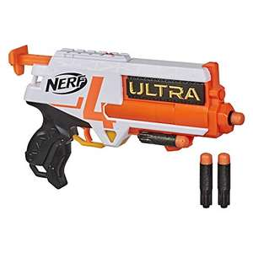 Amazon: Nerf Lanzador Ultra Four - 4 Dardos Ultra - Lanzamiento único - Portadardos para 2 - Compatible Solo con Dardos Ultra