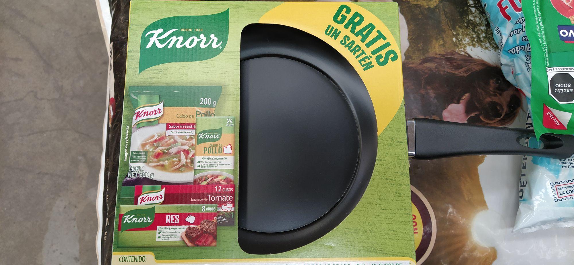 Soriana // Sazonadores Knor + Sarten + Caldo de pollo