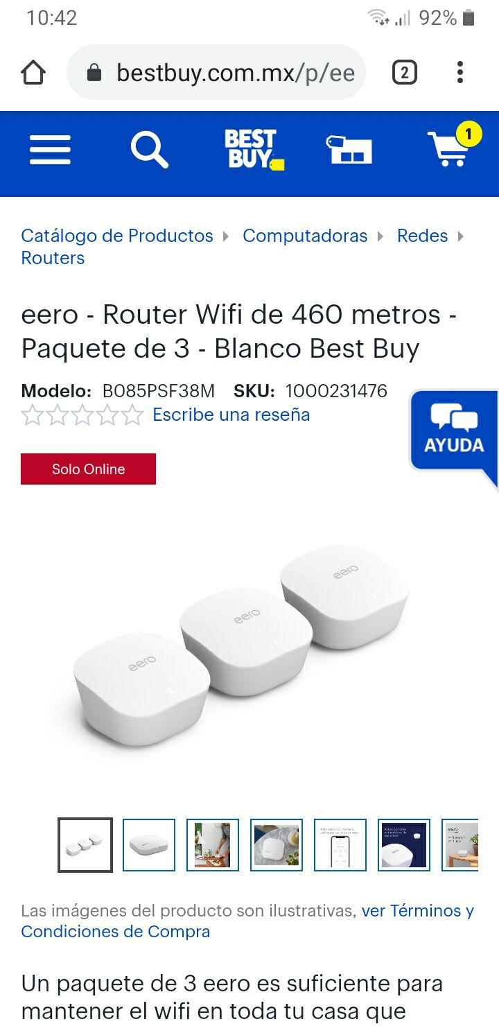 best buy: Eero wifi mesh, 3 pack