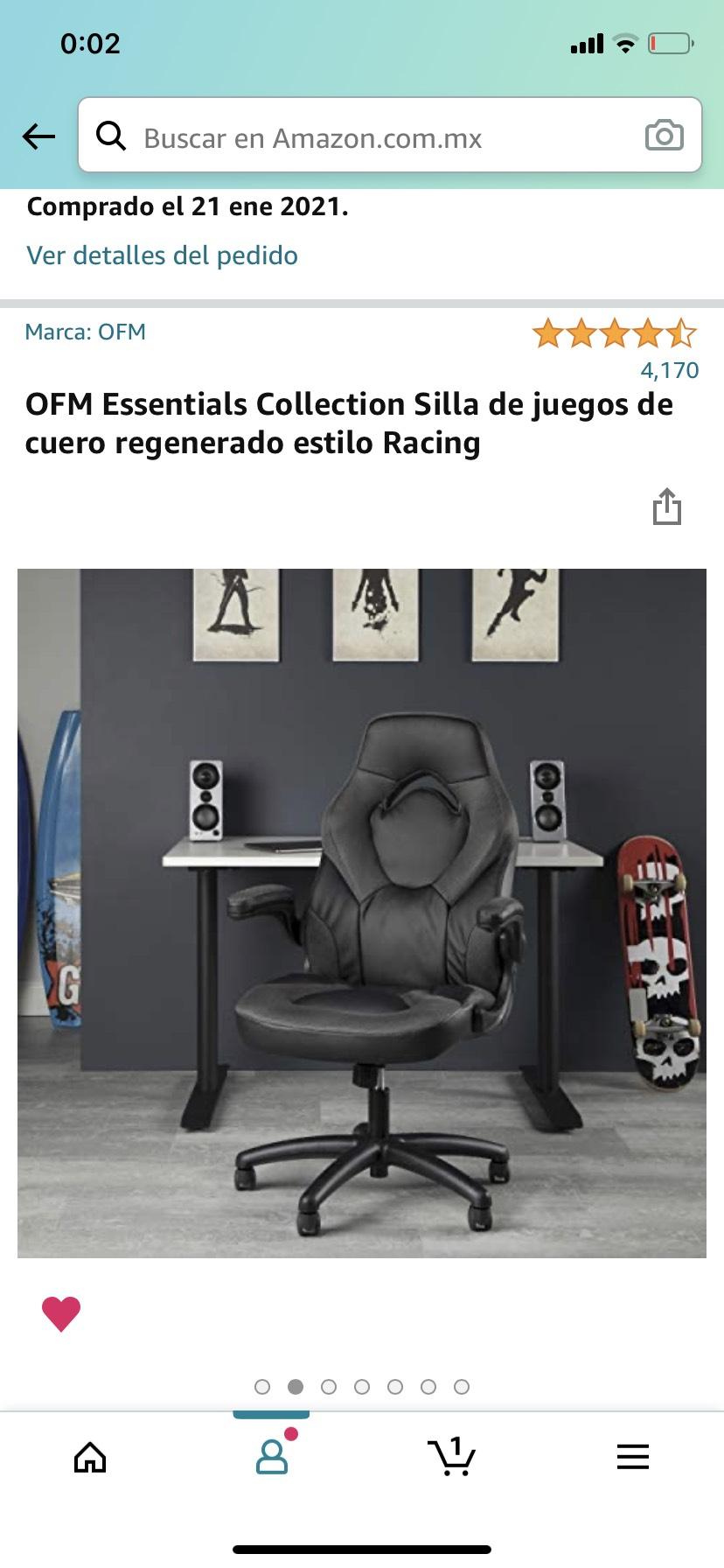 Amazon: OFM Essentials Collection Silla Gamer
