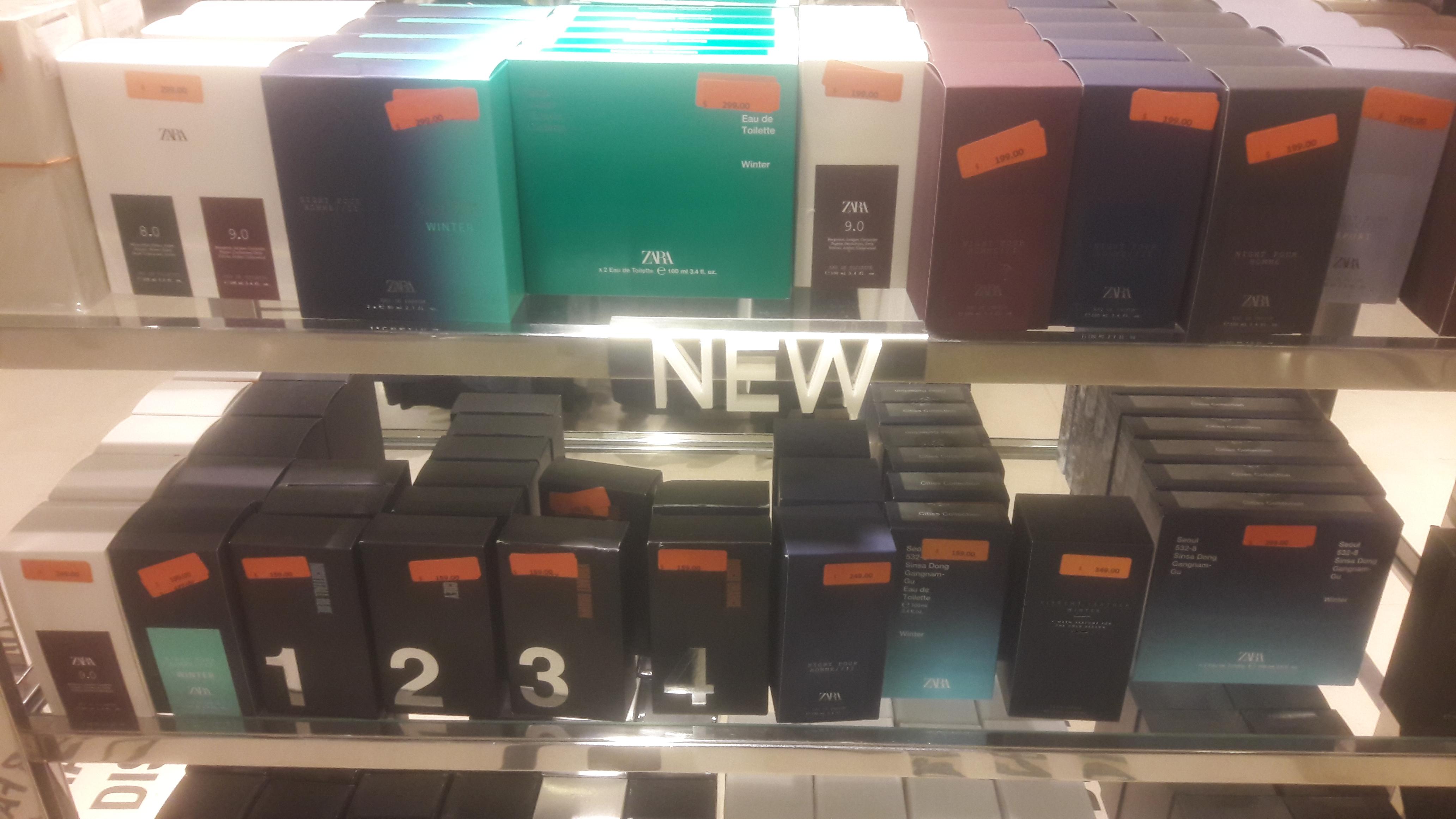 Fragancias Zara desde $159