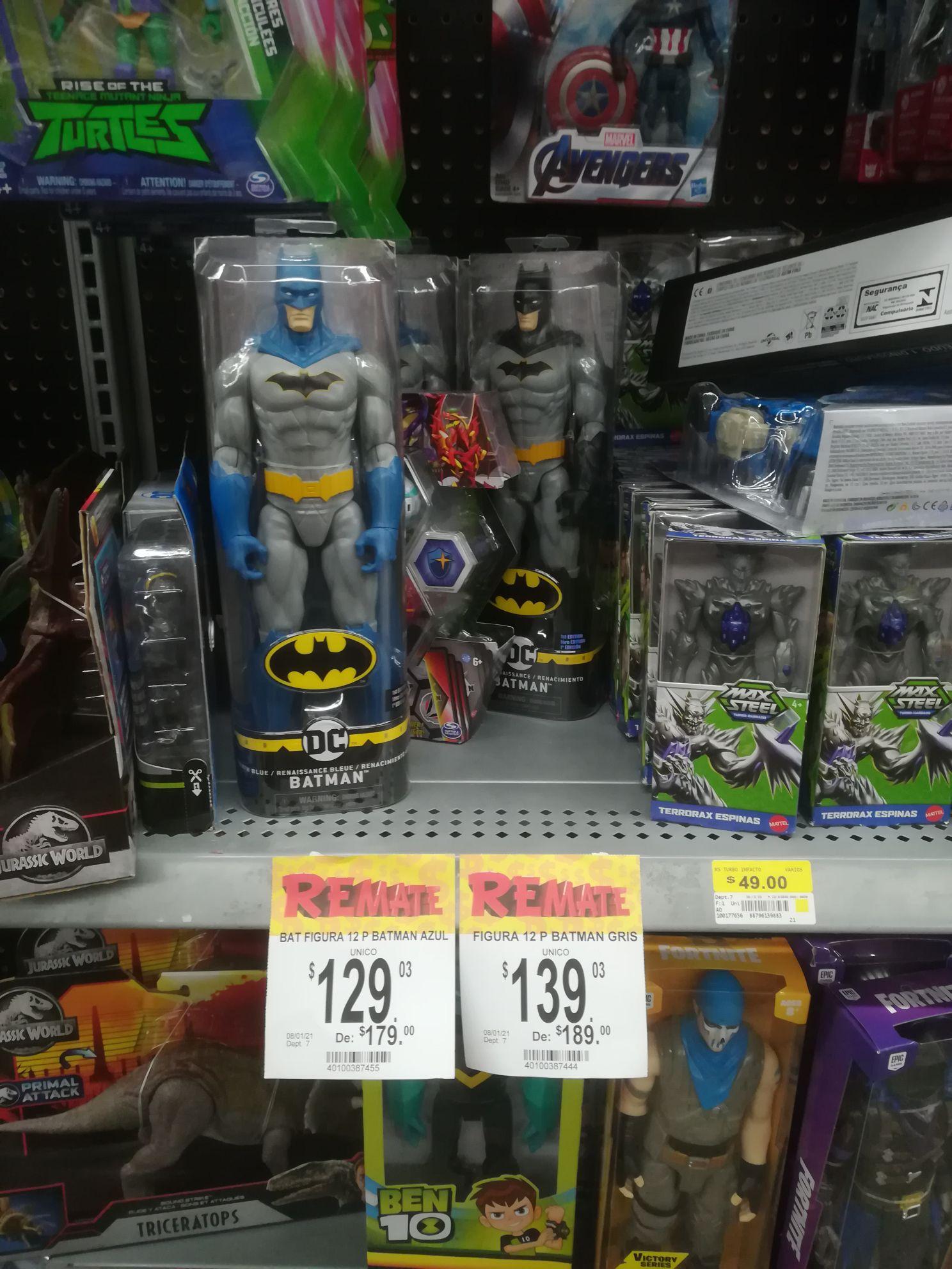 Bodega Aurrerá: Figura Batman, Thanos y patines encantada