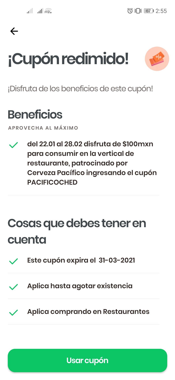 Rappi: $100 pesos de descuento en Restaurantes
