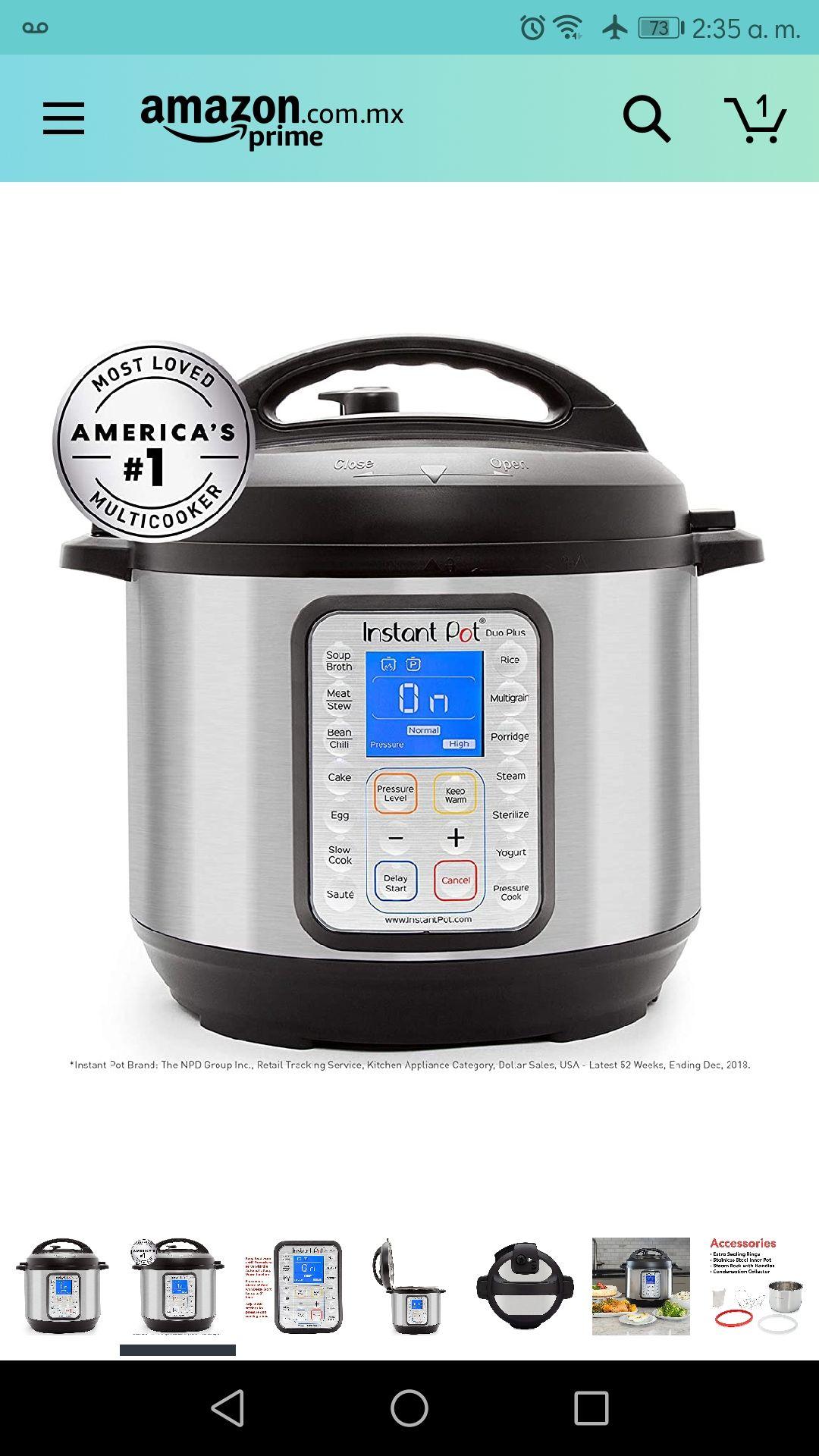 Amazon: Instant Pot Duo Plus de 8qt o 7.5 litros
