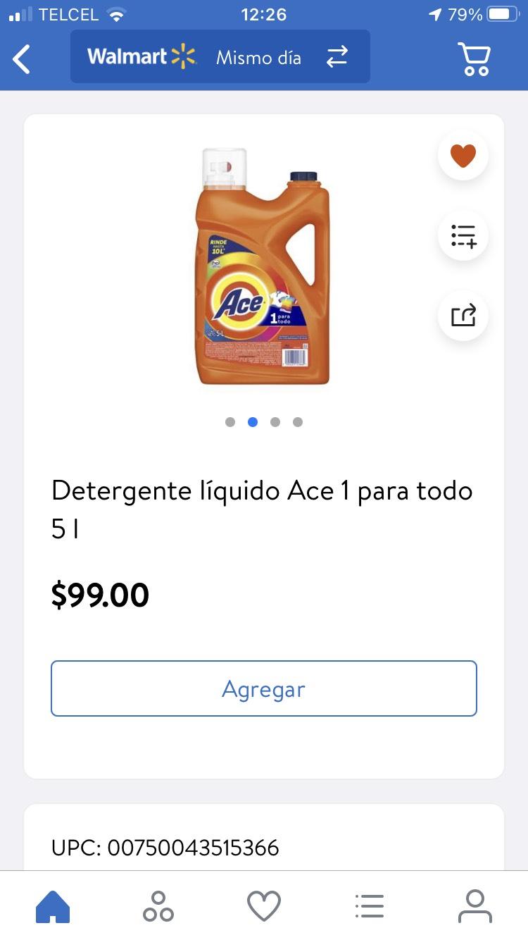 Walmart en línea ace 5