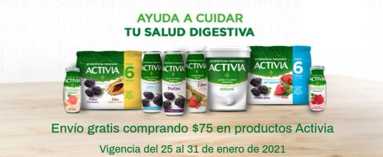 Chedraui: Envío gratis en la compra de $75 en productos Activia