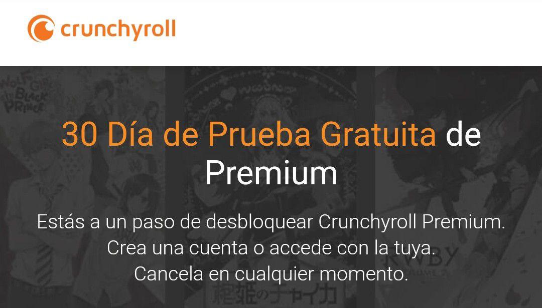 Crunchyroll: Prueba gratis de 30 días