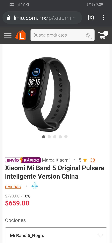 Linio: Xiaomi Mi band 5 (envío desde la CDMX)