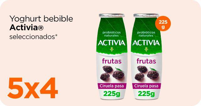 Chedraui: 5 x 4 en yoghurt Activia bebible 225 g. seleccionados (productos con envío gratis)