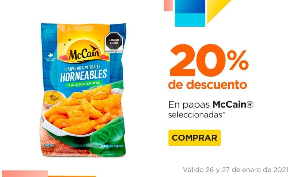 Chedraui: 20% de descuento en papas McCain