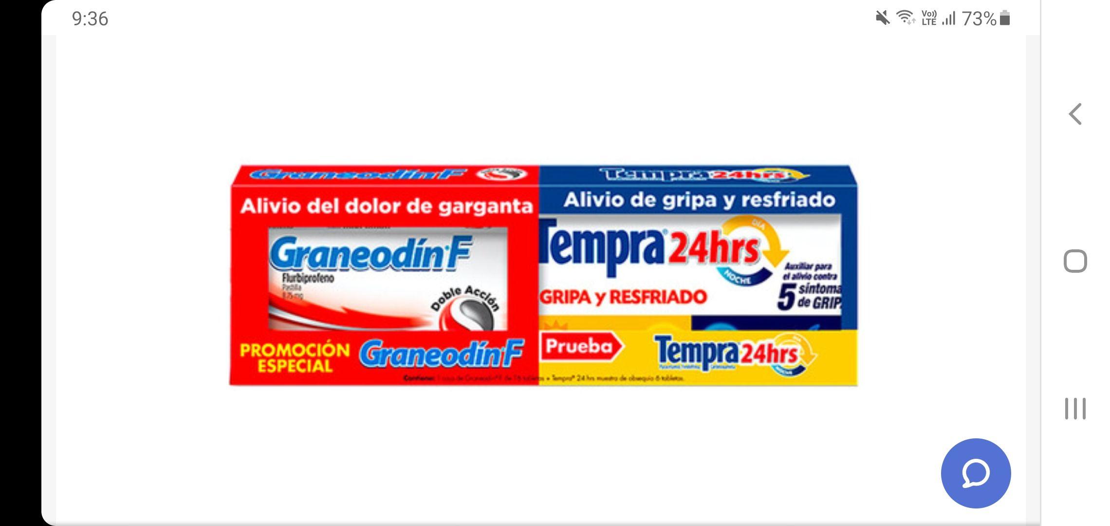 CHEDRAUI EN LINEA GRANEODIN F + TEMPRA 16+6 PIEZAS