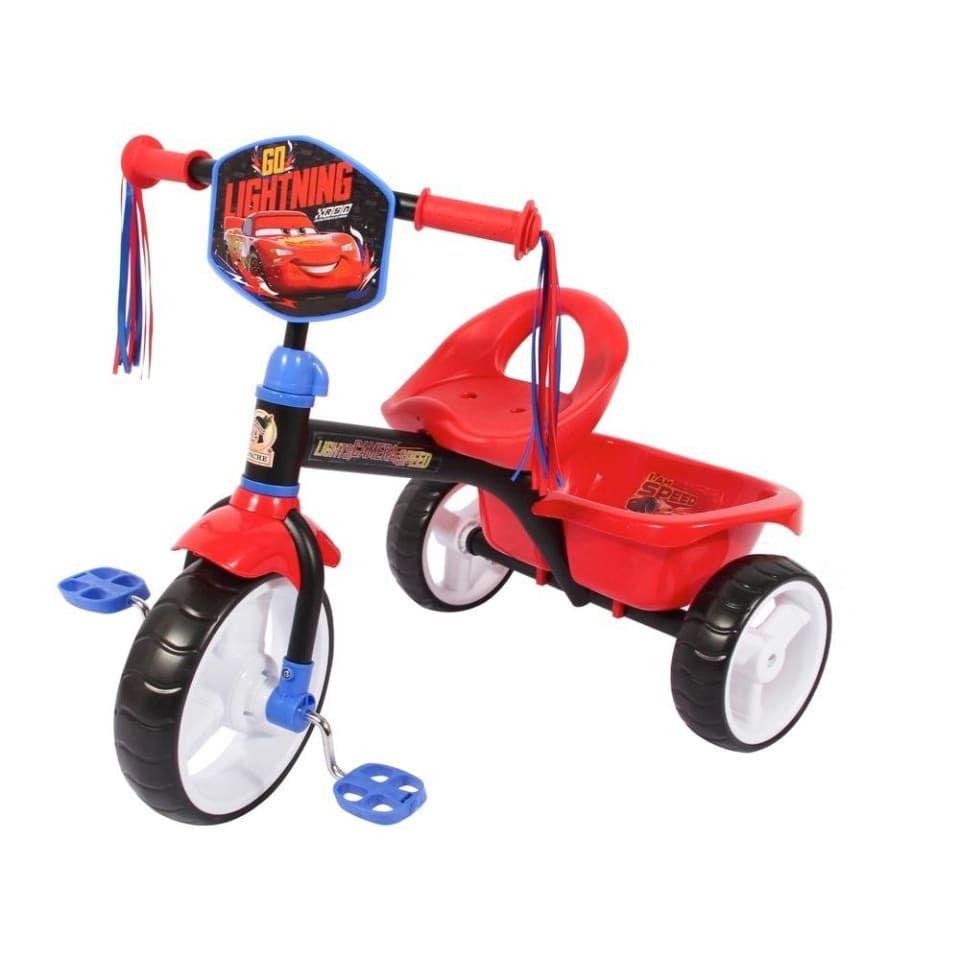 Walmart: Triciclo Cars Cajuela Grande Rojo