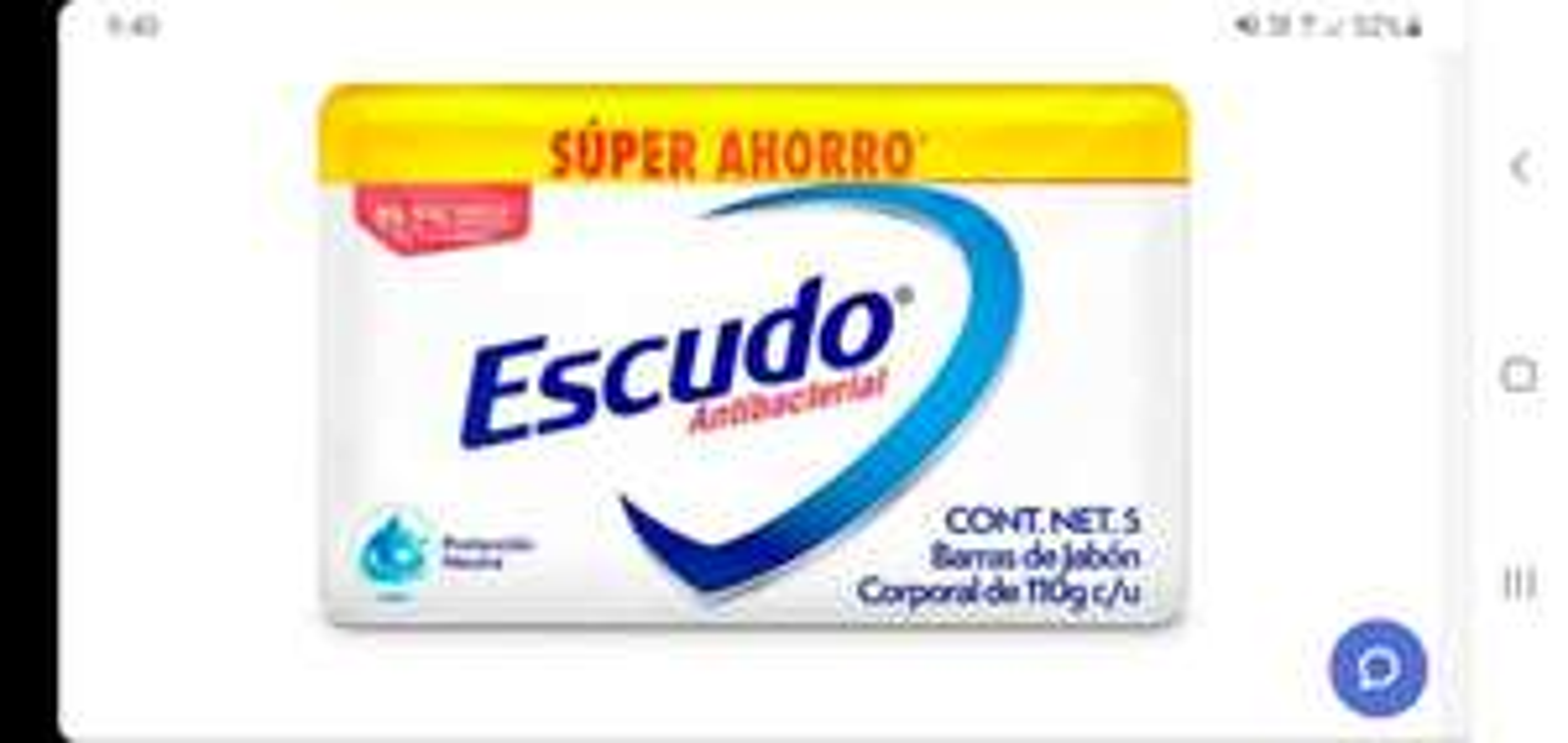 CHEDRAUI ESCUDO NEUTRO ANTIBACTERIAL 5 BARRAS 110G C/U