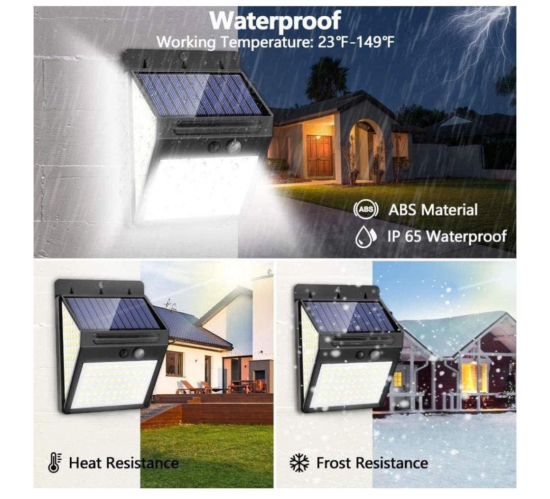 Amazon: 2 pack Lámparas exteriores con sensor IP65