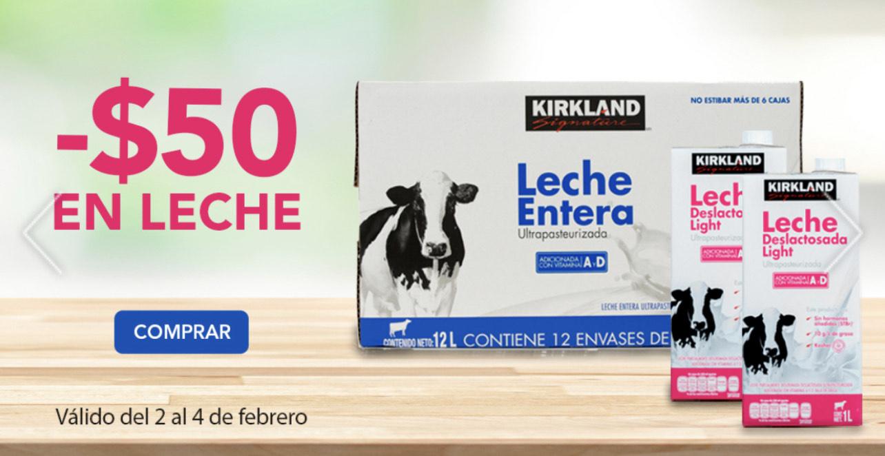 Costco: Leche Kirkland Entera/Light $159 y Deslactosada $169