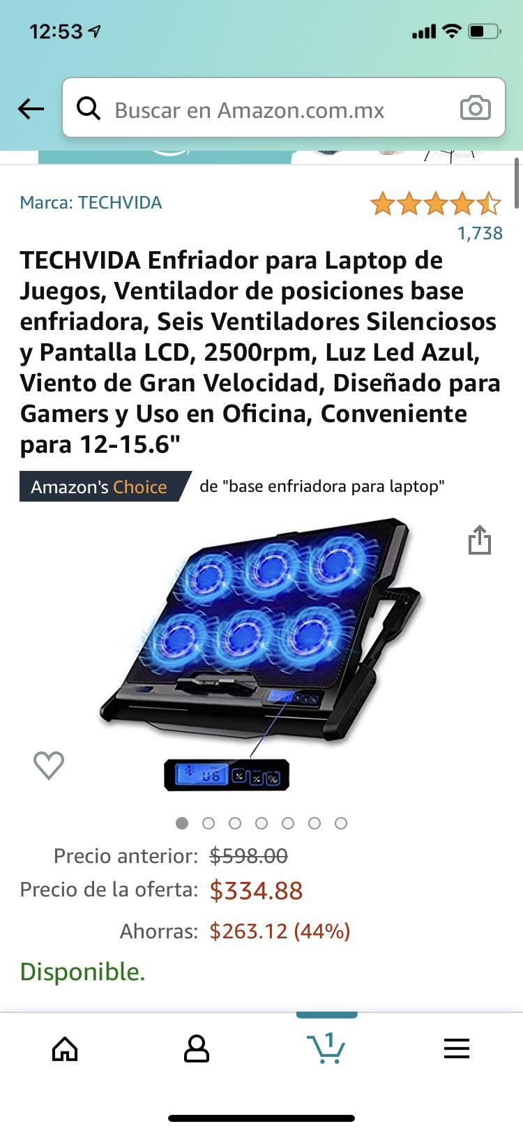 Amazon: Base enfriadora oferta relámpago