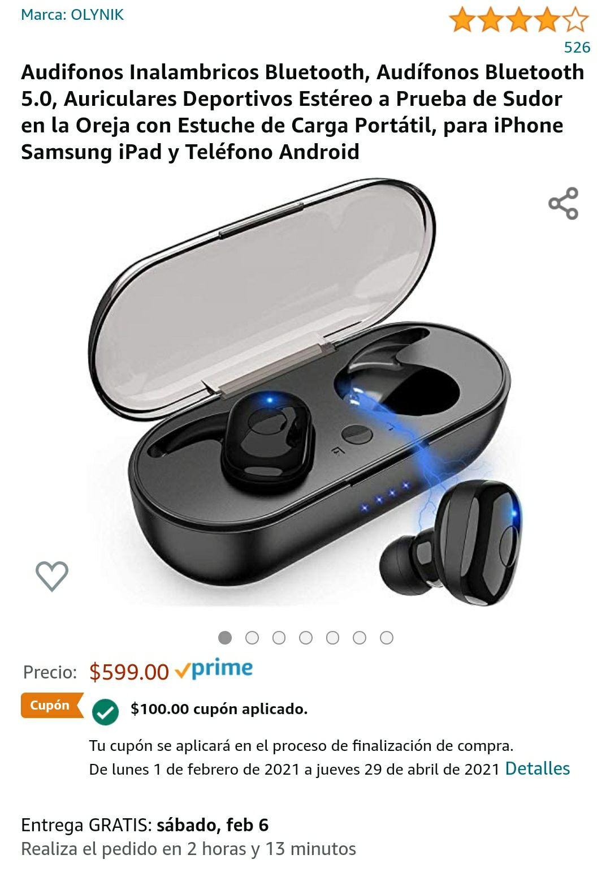 Amazon: Audífonos Olynik