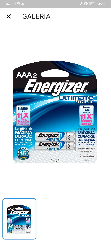 Game Plan4et: pilas AAA Energizer Litio.
