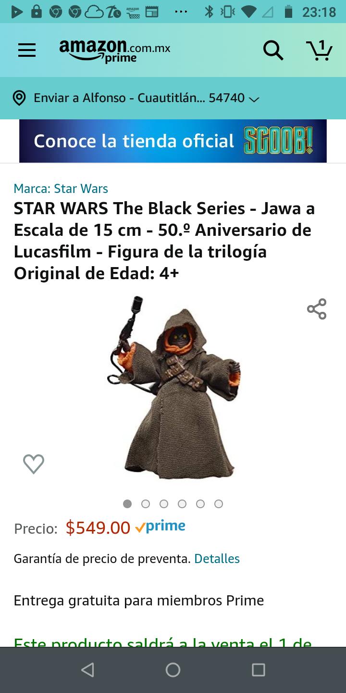 Amazon: Preventa - STAR WARS The Black Series - Jawa a Escala de 15 cm