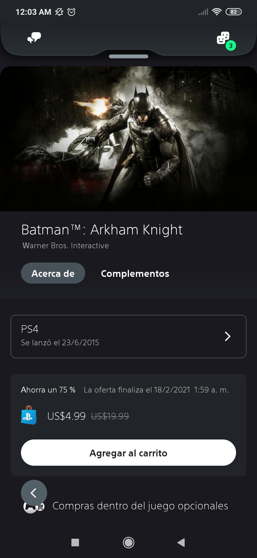 PSN Store: Batman Arkham PS4