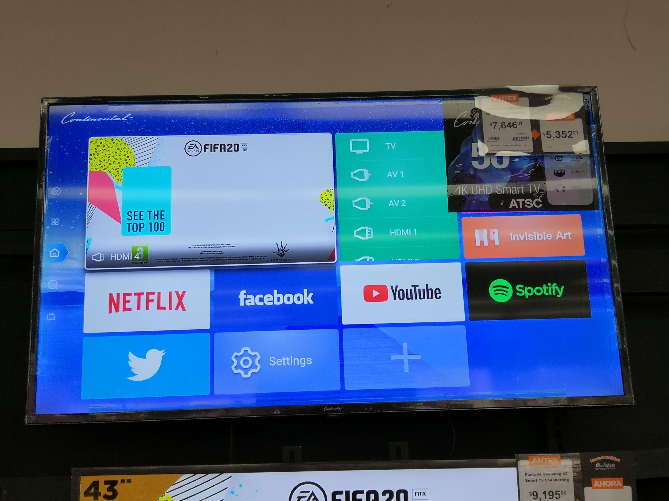"Chedraui: Smart TV Continental 50"""