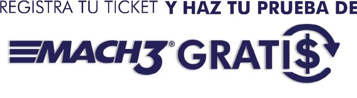 Gillette Mach3: Compra 2 Productos, Registra tu ticket y recibe reembolso.