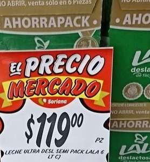 Soriana: Leche LALA caja con 6 litros