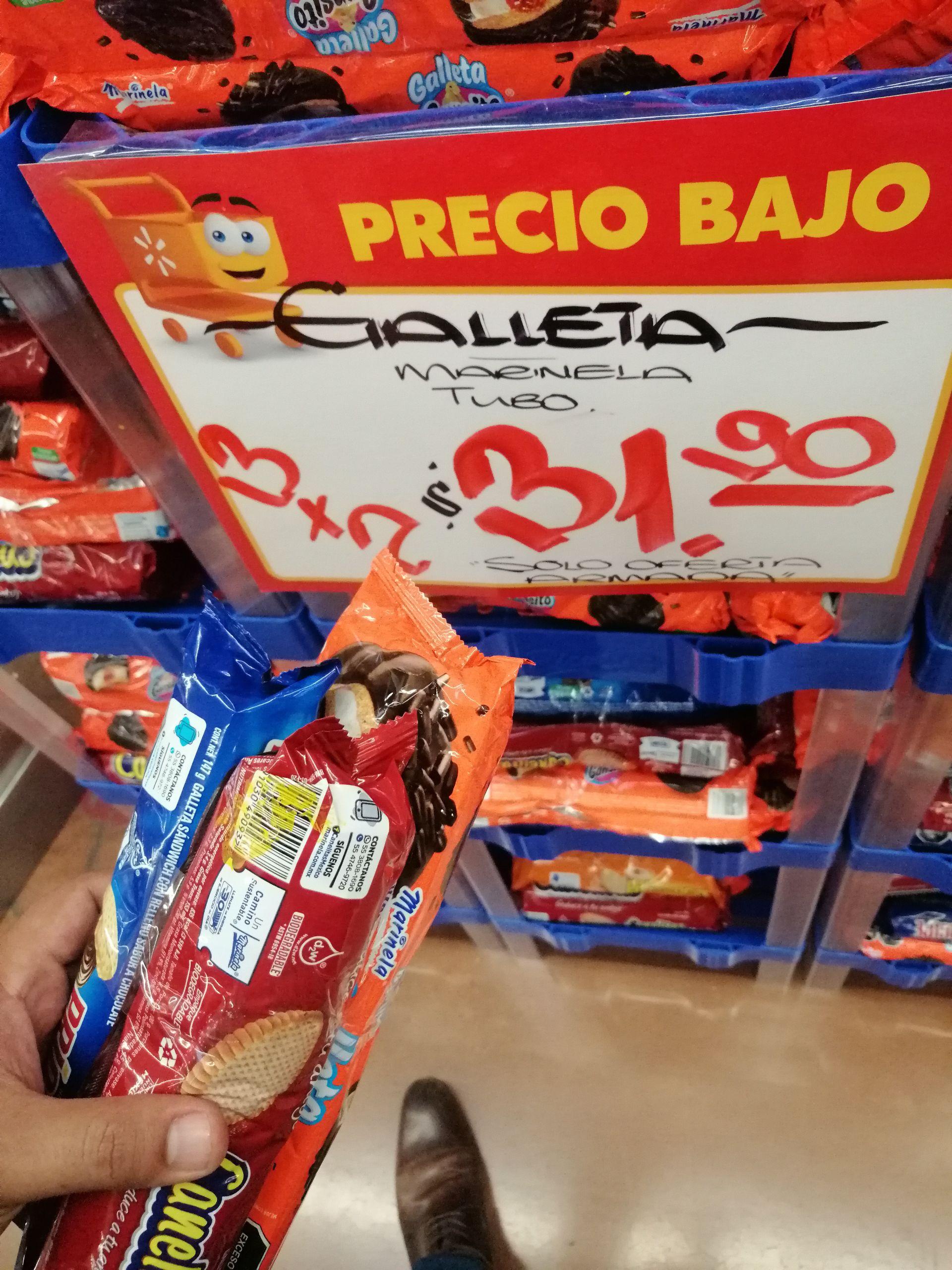 Walmart: Galletas pack 3 marinela
