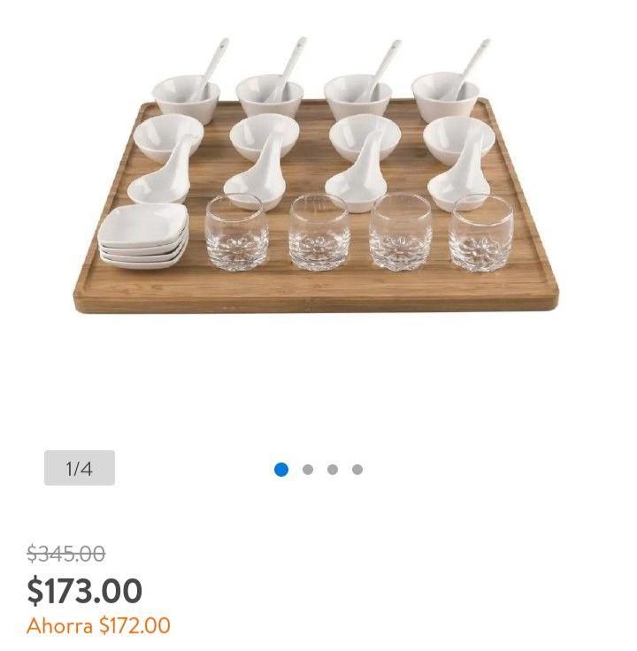 Walmart: Set de servicio para mesa 25 piezas. Home trends