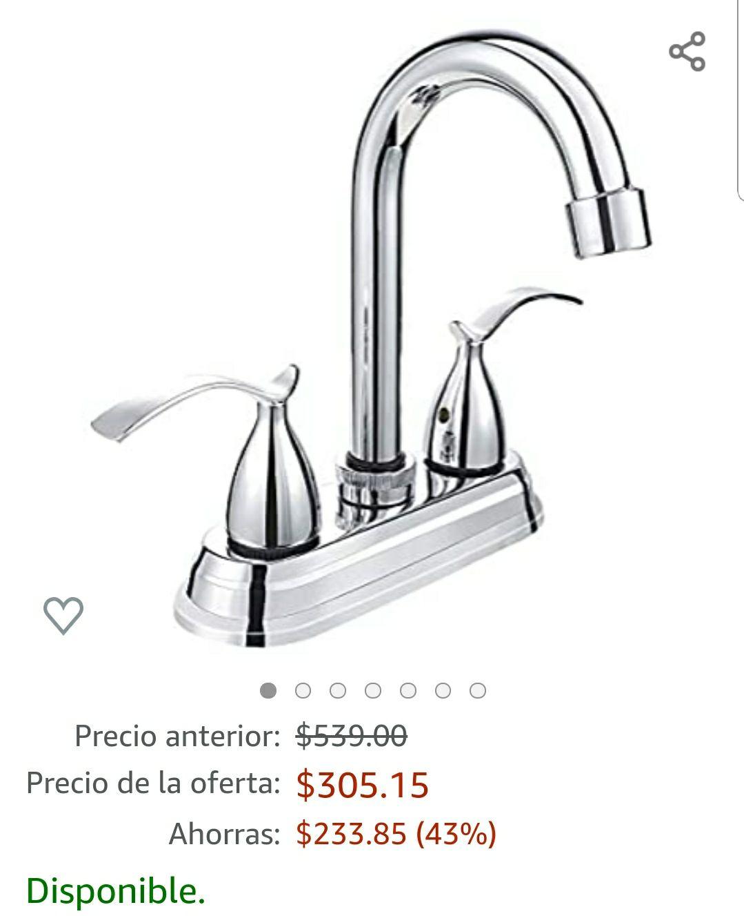 """Amazon: Mezcladora 4""""Para Lavabo Marca Solvex (Oferta Relampago)"""