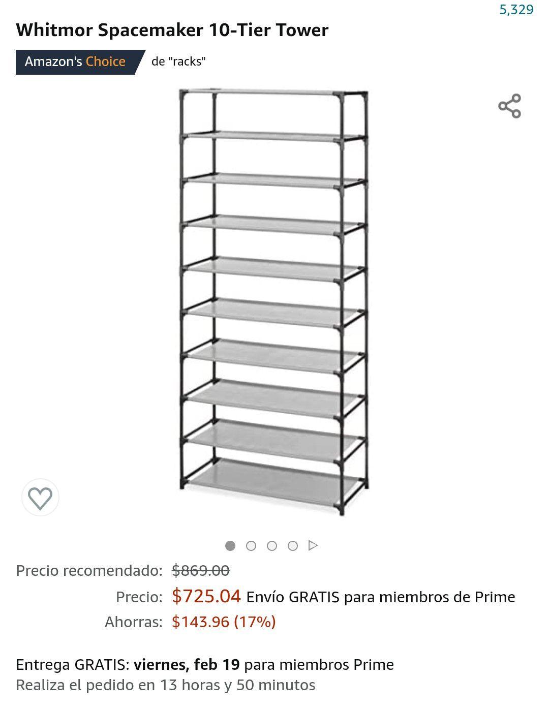 Amazon, Torre para zapatos de 10 niveles