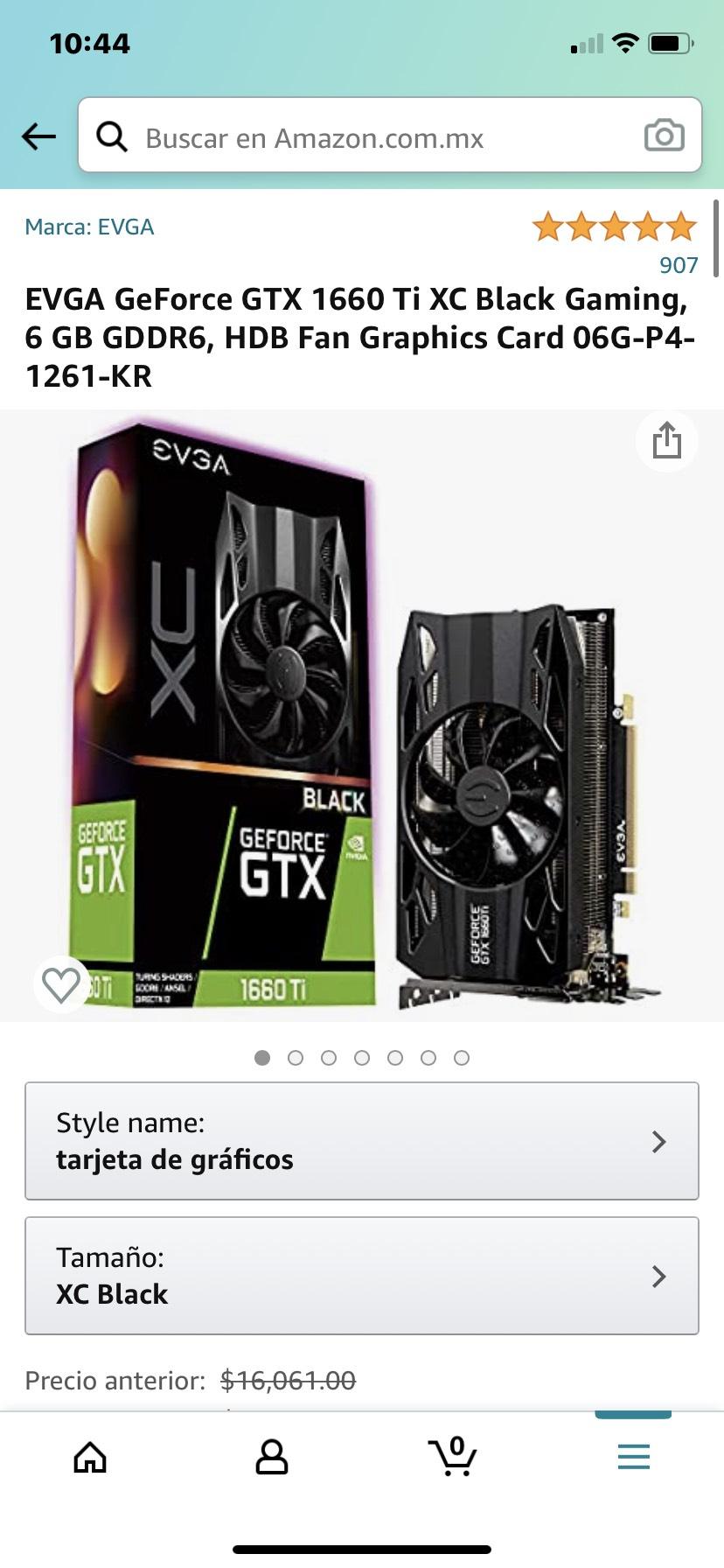 Amazon: EVGA GeForce GTX 1660 Ti XC Black Gaming