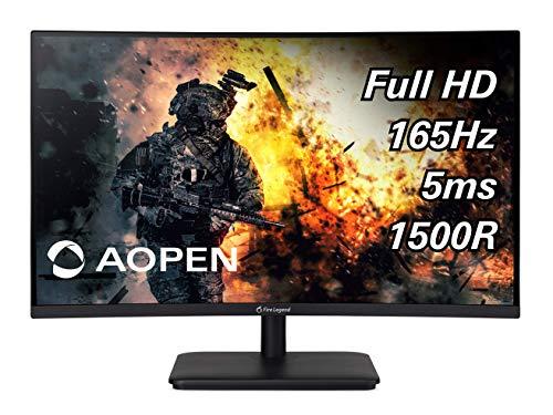 Amazon: Monitor Gaming Aopen Curvo 1500R 27 Pulgadas Full HD 165Hz 5ms