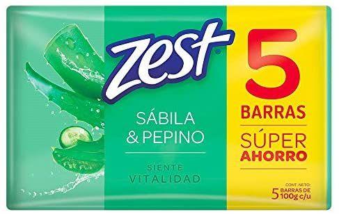 Amazon: ZEST Jabón de tocador vitalidad pepino 5 pack de 100 g cada barra (con planea, ahorra y cancela)