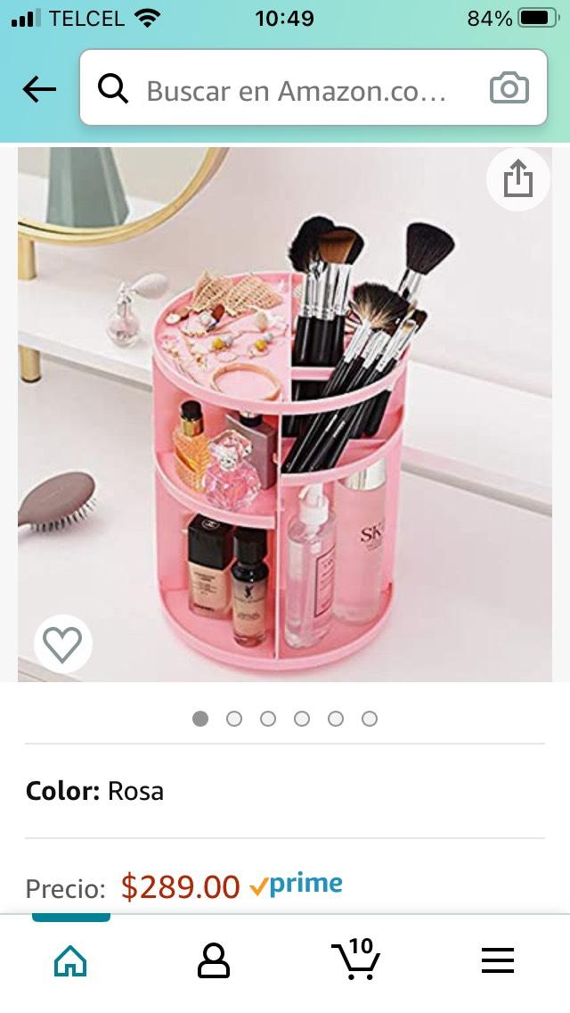 Amazon: Organizador de maquillaje Rosa