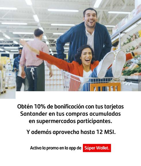 10% de bonificación en supermercados con TDC Santander