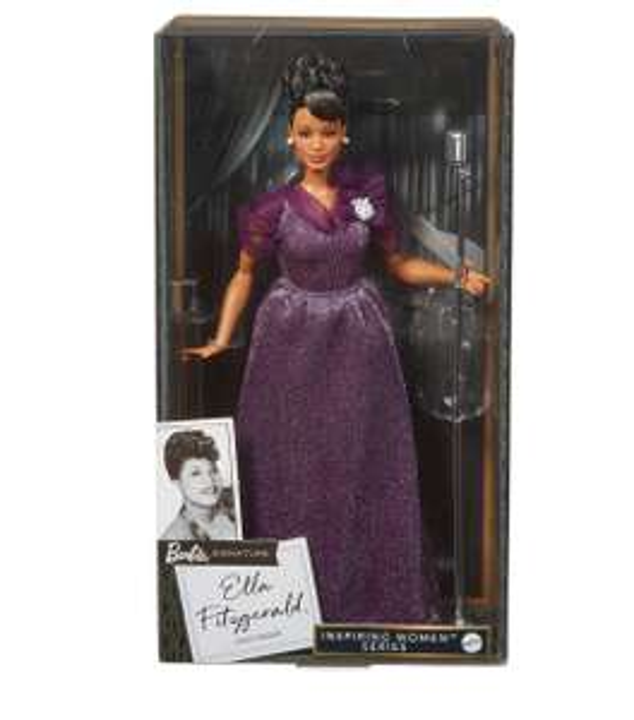 Walmart en línea. Barbie Signature Ella Fitzgerald, de colección.