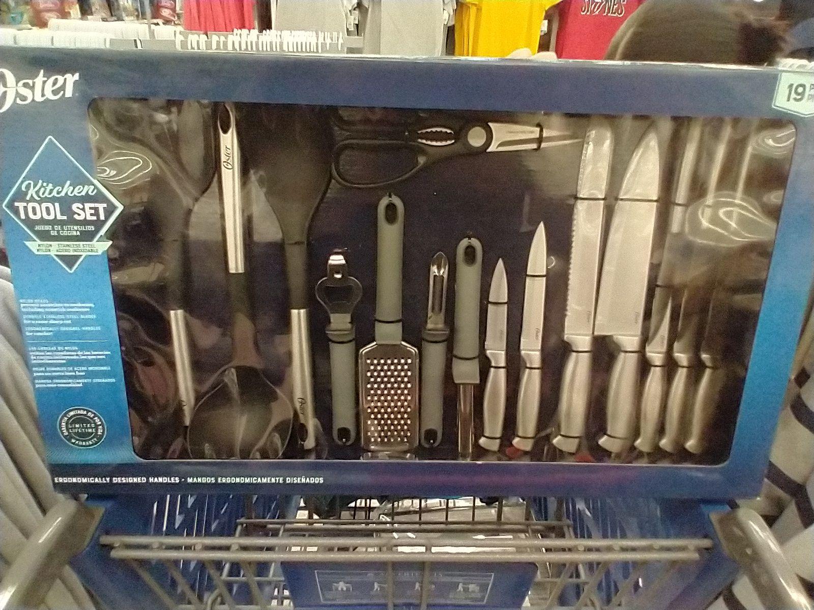 Walmart: Set de cuchillos Oster con utensilios 19 piezas