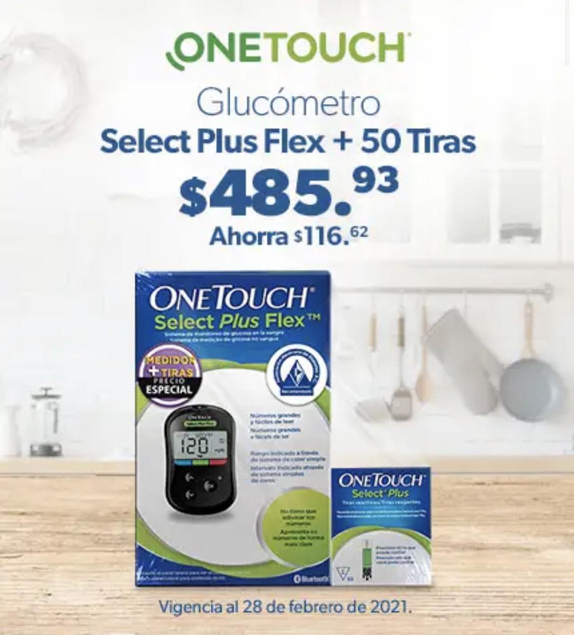 Sam's Club Glucometro One Touch + 50 tiritas
