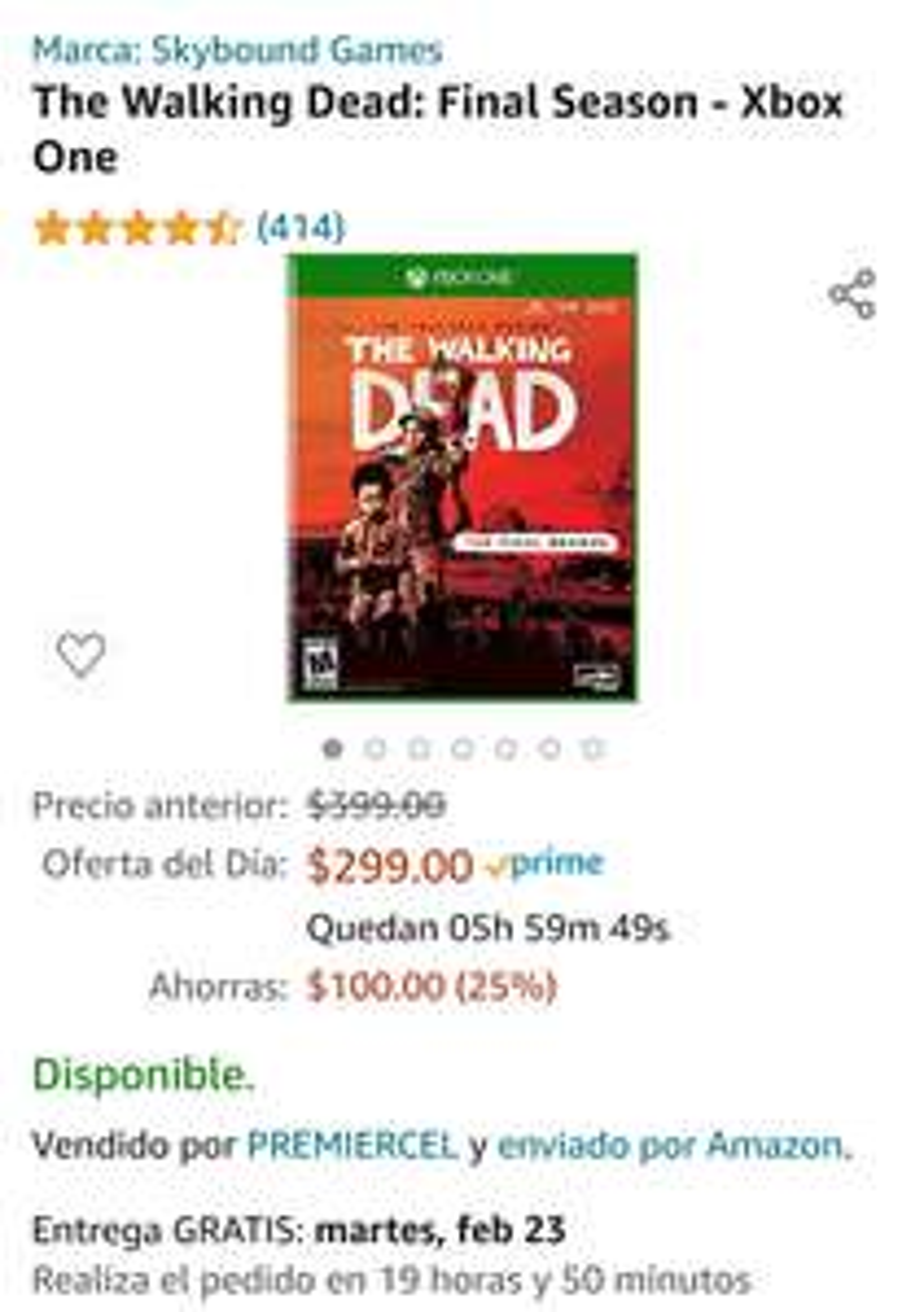 Amazon: The Walking Dead: Final Season - Xbox One